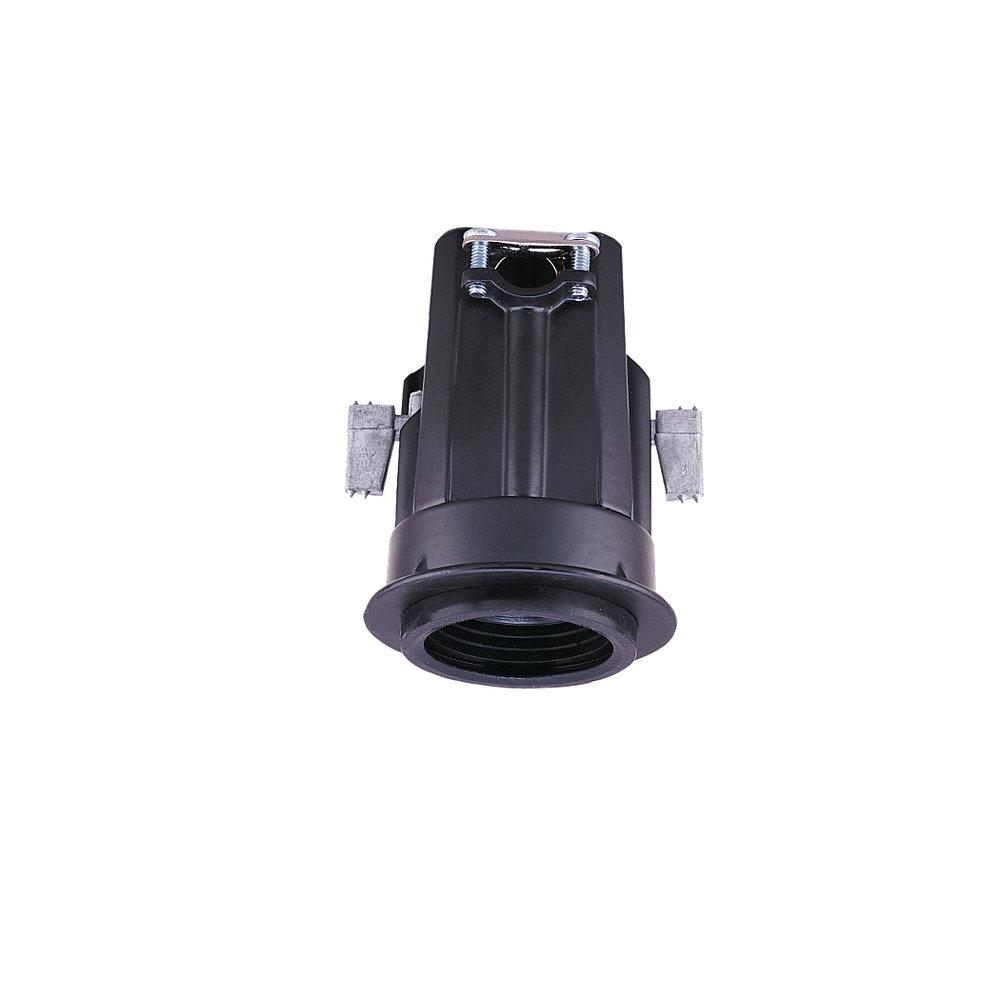 One Light Black Recessed Housing