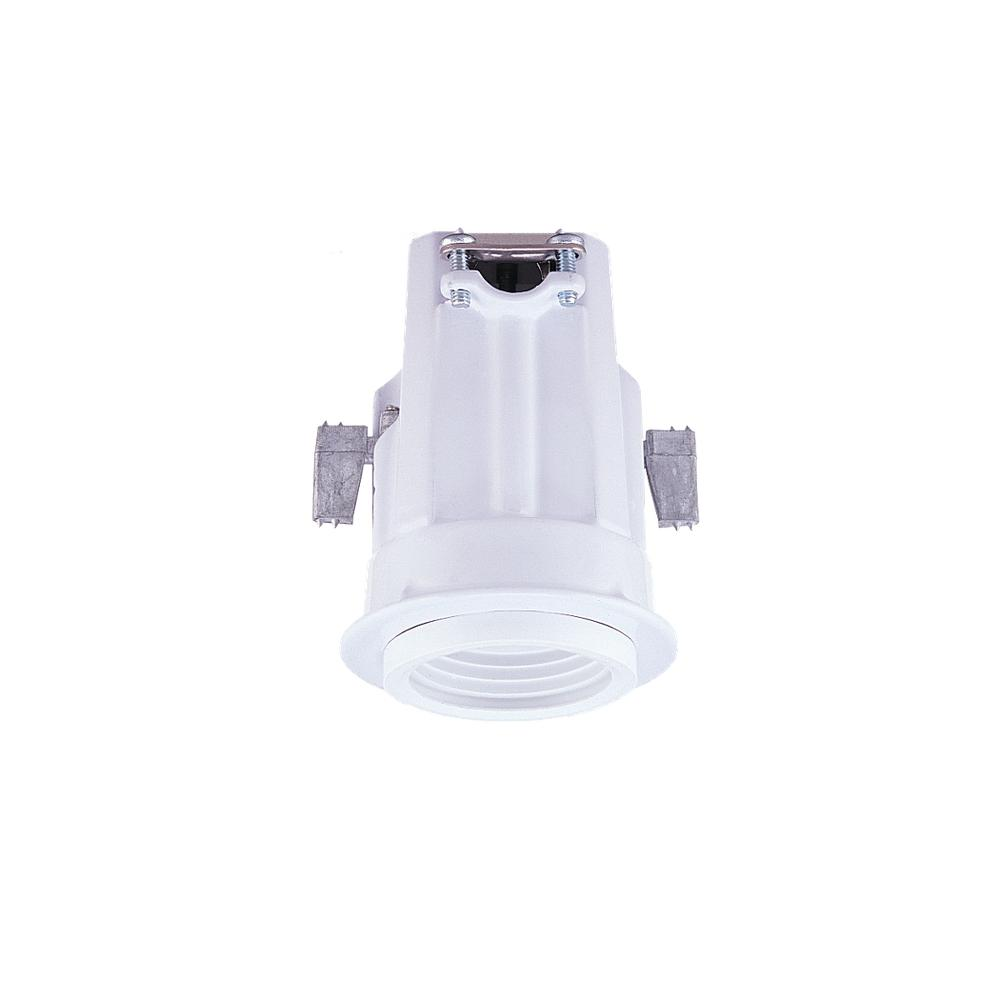 One Light White Recessed Housing