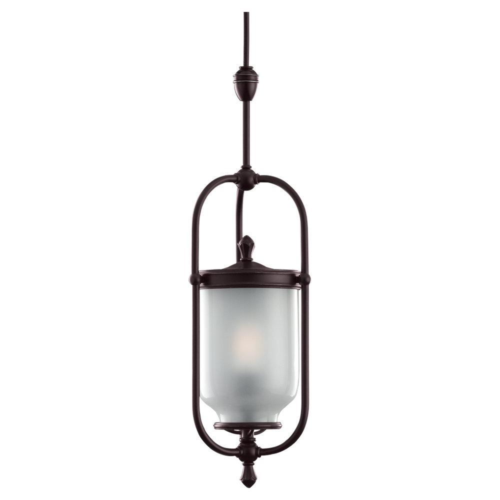 Bronze Framed Glass Foyer Hall Fixture