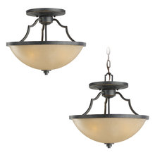 Sea Gull 77520-845 - Three Light Semi-Flush Convertible Pendant