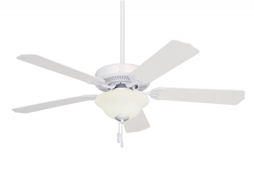 Two Light Appliance White Ceiling Fan