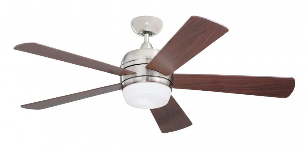 Granite City Electric in Plymouth, Massachusetts, United States, Emerson Fans CF930BS, Two Light Brushed Steel Ceiling Fan, Atomical