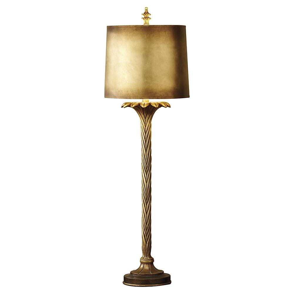 One Light Firenze Gold White Paper With Gold Foil�paper Shade Table Lamp