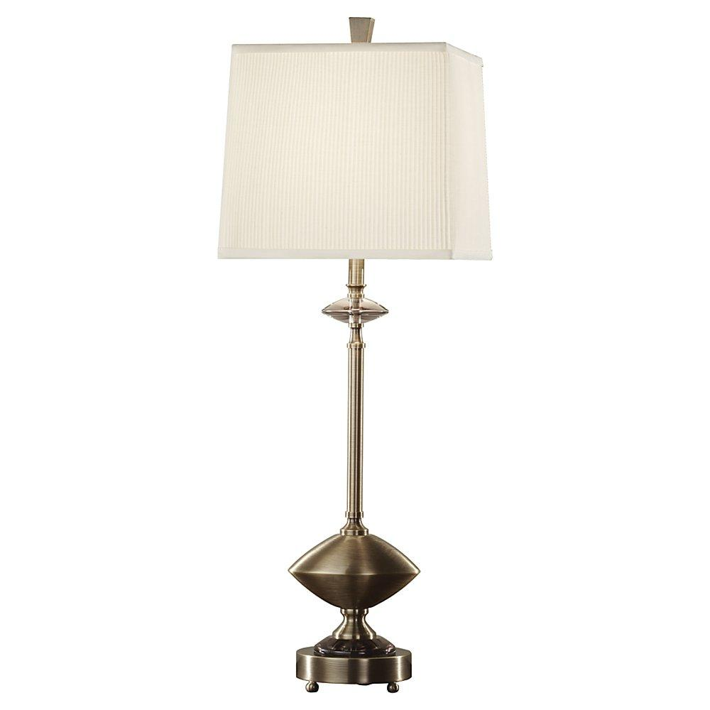 One Light Dark Coffee Bronze Off White Linen Shade Table Lamp