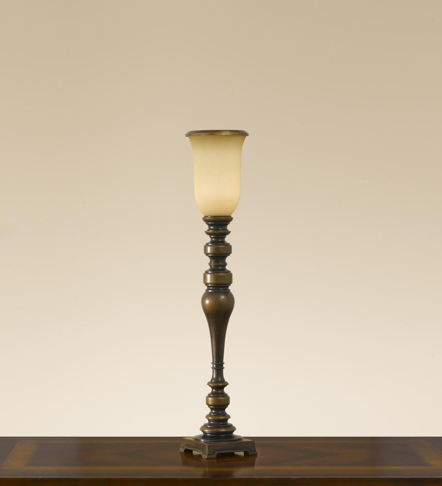 One Light Astral Bronze Speckled Champagne Glass Table Lamp