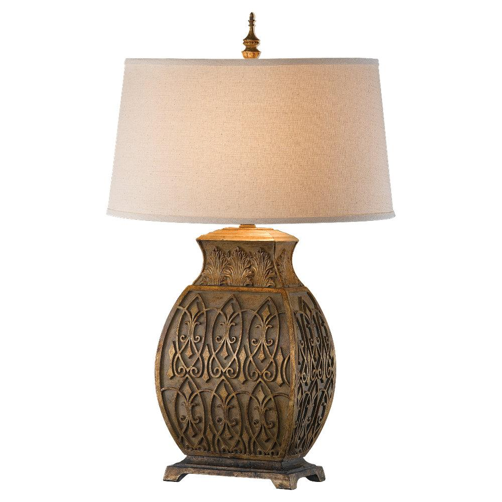 One Light Sandstone Natural Textured Linen�fabric Shade Table Lamp