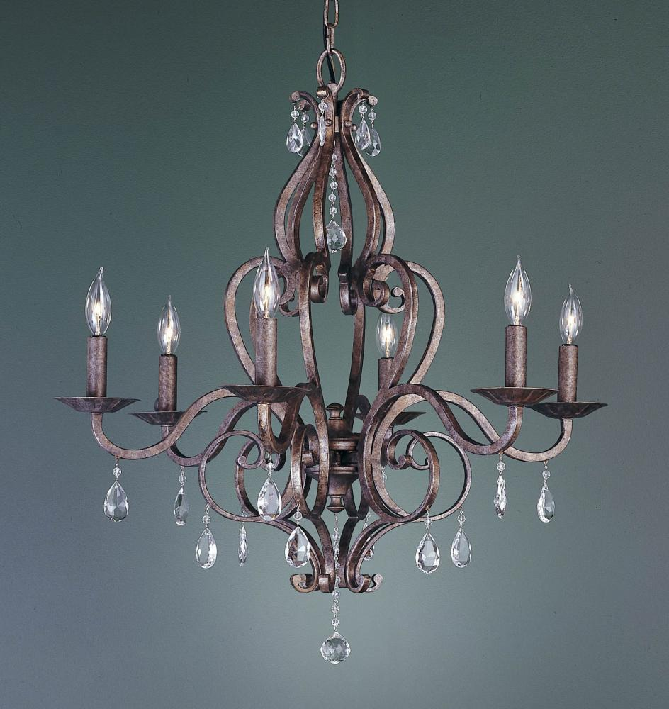 6- Light Single Tier Chandelier