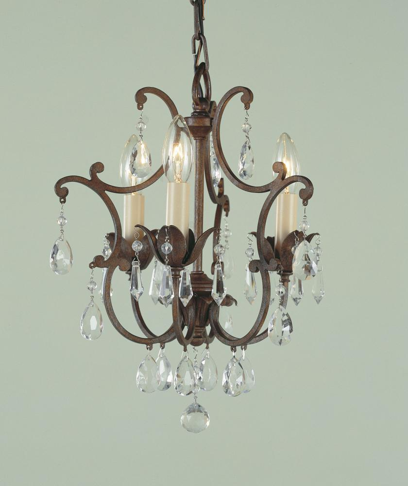 3- Light Mini Chandelier