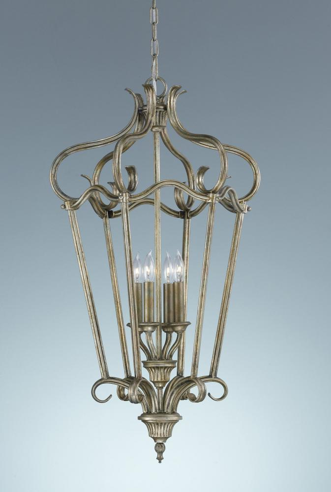 Four Light Moonshadow Open Frame Foyer Hall Fixture