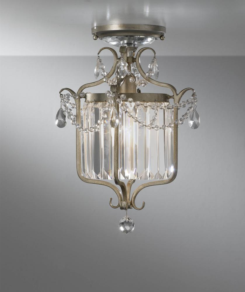 Granite City Electric in Plymouth, Massachusetts, United States, Feiss F2473/1GS, One Light Gilded Silver Cage Semi-Flush Mount, Gianna
