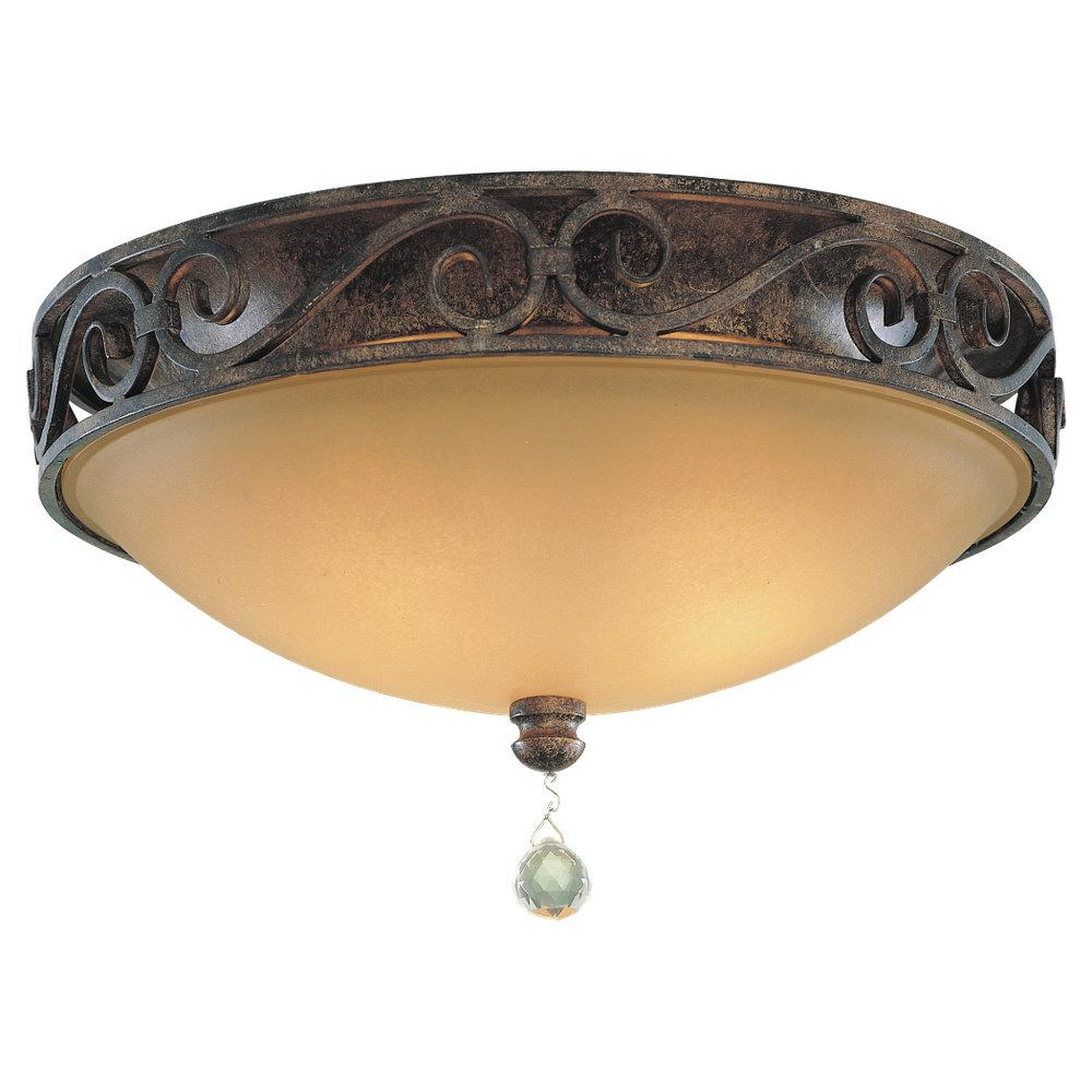 Granite City Electric in Plymouth, Massachusetts, United States, Feiss FM231MBZ, Three Light Mocha Bronze Antique Excavation Glass Bowl Flush Mount, Chateau