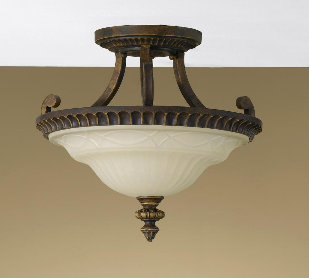 Granite City Electric in Plymouth, Massachusetts, United States, Feiss SF238WAL, 2- Light Indoor Semi-Flush Mount, Drawing Room