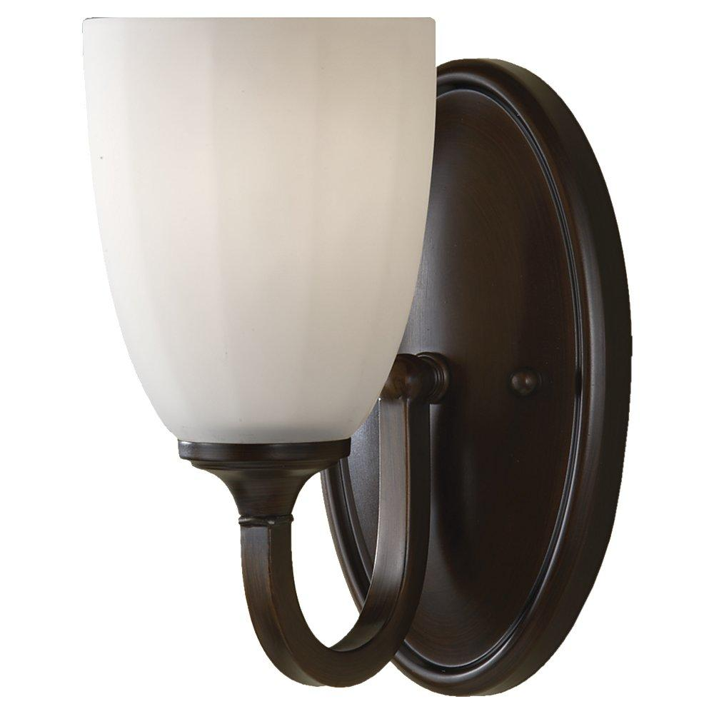 Granite City Electric in Plymouth, Massachusetts, United States, Feiss VS17401-HTBZ, One Light Heritage Bronze White Opal Etch Glass Bathroom Sconce, Perry