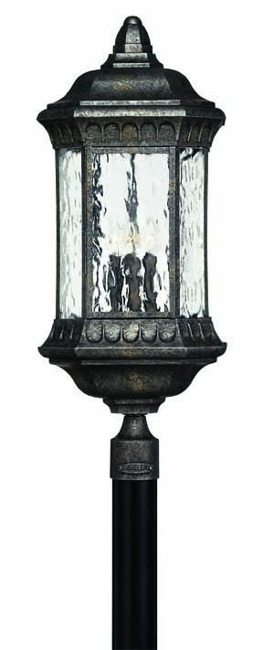 Four Light Black Granite Post Light